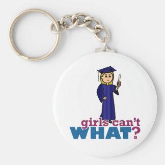 Girl Graduating Key Chains
