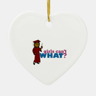 Girl Graduation in Red Ornament