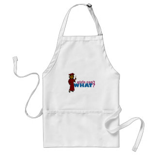 Girl Graduation in Red Standard Apron