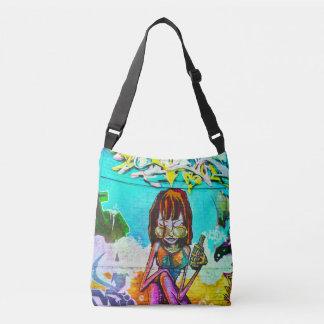 Girl Graffiti Art All-Over-Print Cross Body Bag
