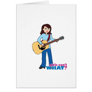 Girl Guitar Player Greeting Cards