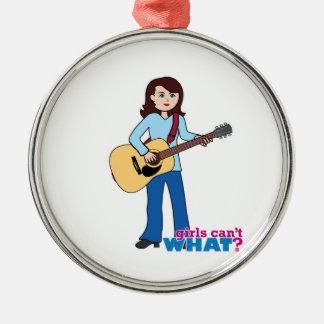 Girl Guitar Player Christmas Ornament