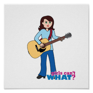 Girl Guitar Player Posters