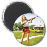 Girl gun Magnet Magnets