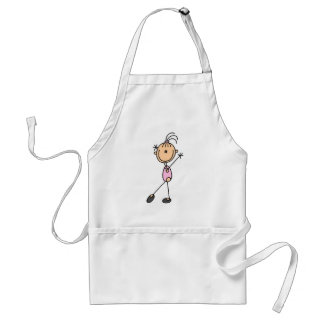 Girl Gymnast in Pink Adult Apron
