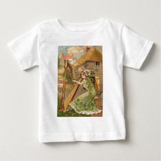 Girl Harp Rose Shamrock Erin Go Braugh Shirts