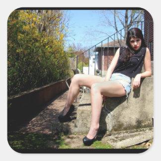 Girl Heels Sun Model Sticker
