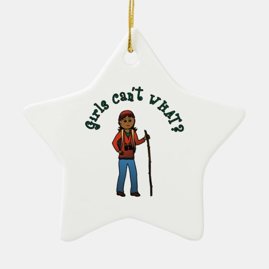 Girl Hiker Christmas Ornament