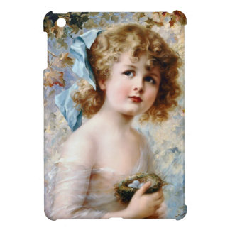 Girl Holding Bird Nest iPad Mini Covers