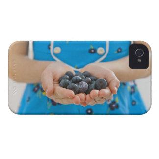 Girl holding fresh blueberries Case-Mate iPhone 4 case