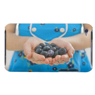 Girl holding fresh blueberries iPod touch Case-Mate case