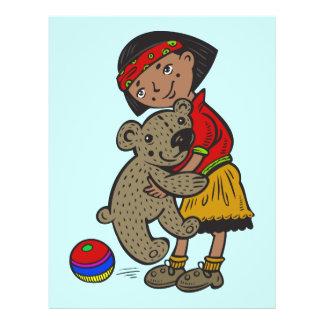 Girl Holding Teddy Bear 21.5 Cm X 28 Cm Flyer