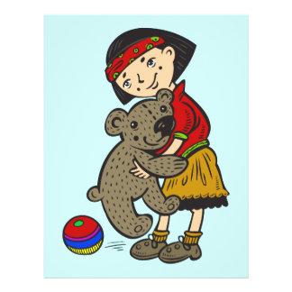 Girl Holding Teddy Bear Flyers