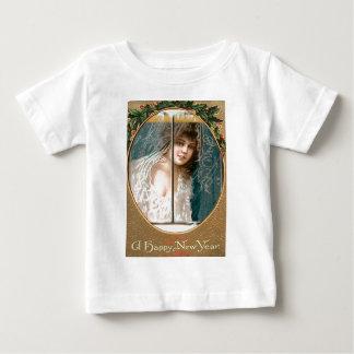 Girl Holly Window New Year Tee Shirts