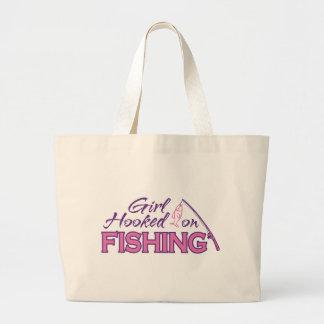 Girl Hooked on Fishing Tote Bag