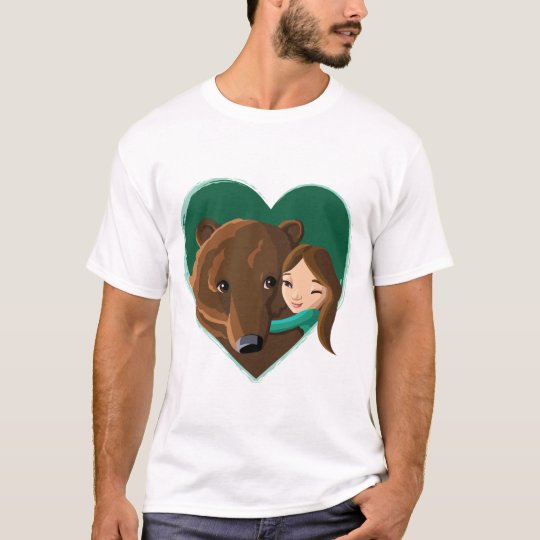 Girl Hugging Bear T-Shirt