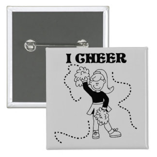 Girl I Cheer Tshirts and Gifts Pinback Button