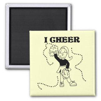 Girl I Cheer Tshirts and Gifts Fridge Magnets