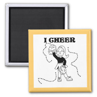 Girl I Cheer Tshirts and Gifts Magnets