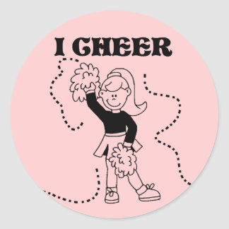 Girl I Cheer Tshirts and Gifts Round Sticker