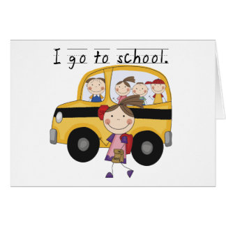 Girl I Go To  School T-shirts and Gifts Greeting Card