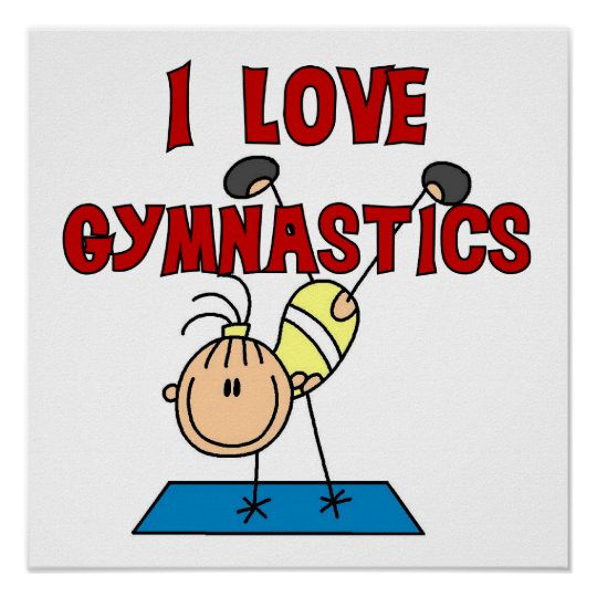 Girl I Love Gymnastics Poster