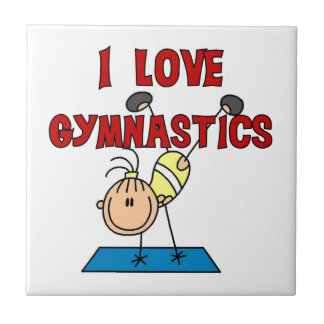 Girl I Love Gymnastics Small Square Tile
