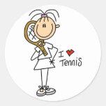 Girl I Love Tennis Stickers