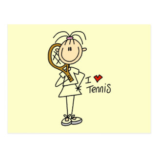 Girl I Love Tennis Tshirts and Gifts Postcard