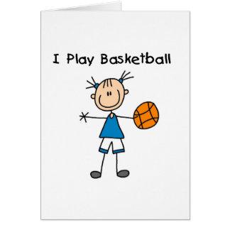 Girl I Play Basketball Greeting Card
