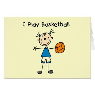 Girl I Play Basketball Tshirts and Gifts Greeting Card