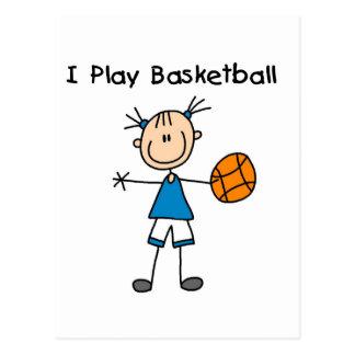 Girl I Play Basketball Tshirts and Gifts Postcards