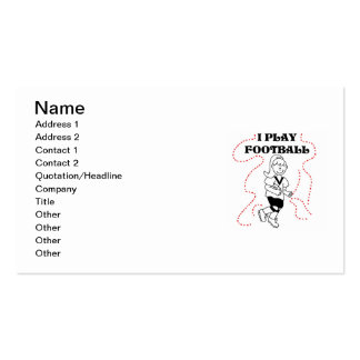 Girl I Play Football T-shirts and Gifts Double-Sided Standard Business Cards (Pack Of 100)