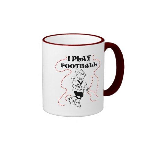Girl I Play Football Tshirts and Gifts Coffee Mugs