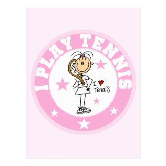 Girl I Play Tennis Tshirts and gifts Postcard