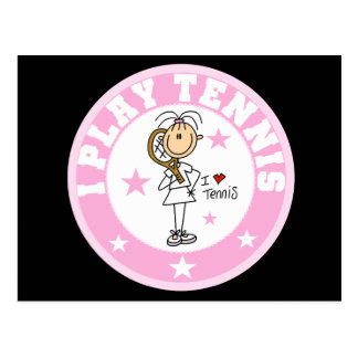 Girl I Play Tennis Tshirts and gifts Post Card