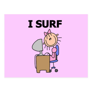 Girl I Surf the Web Tshirts and Gifts Postcard