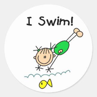 Girl I Swim Sticker
