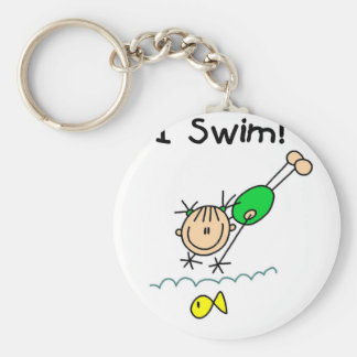 Girl I Swim T-shirts and Gifts Basic Round Button Key Ring