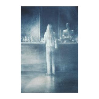 Girl in a Bar 1995 Canvas Print