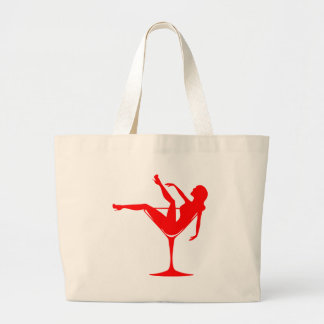 Girl in a Cocktail Glass Large Tote Bag