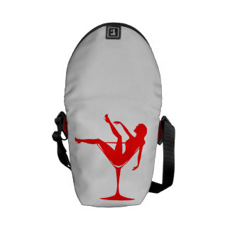 Girl in a Cocktail Glass Commuter Bag