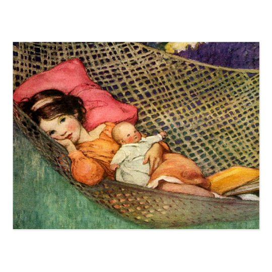 Girl in a Hammock by Jesse Willcox Smith