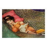 Girl in a Hammock by Jesse Willcox Smith Poster