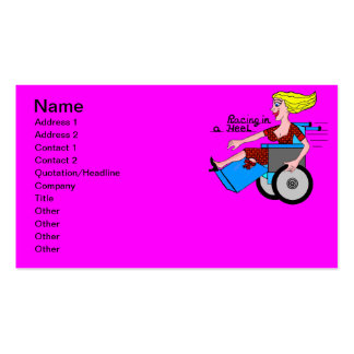 Girl in a Heel needs Wheels Amputee Pack Of Standard Business Cards