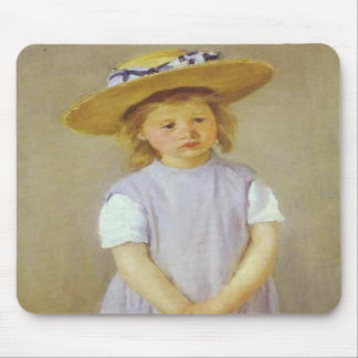 Girl in A Straw Hat, Mary Cassatt Mousepad