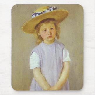 Girl in A Straw Hat Mary Cassatt Mousepad