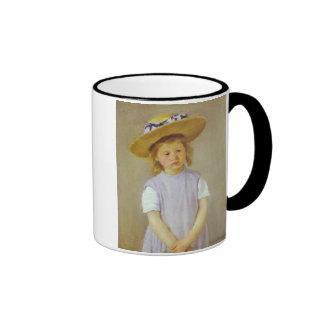 Girl in A Straw Hat, Mary Cassatt Mugs