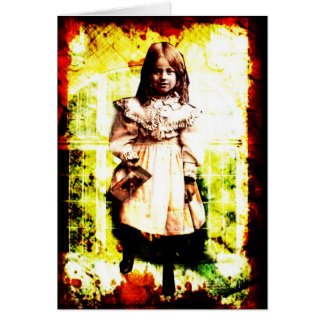 Girl in a Window Card