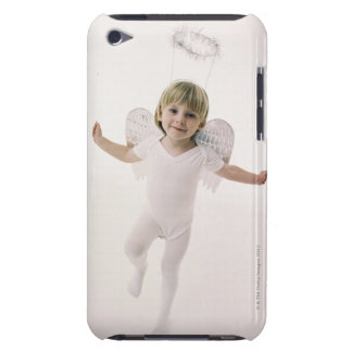 Girl in an angel costume barely there iPod covers